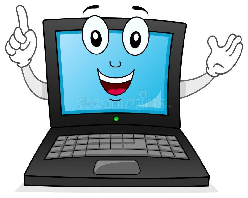 Carattere sorridente del taccuino o del computer portatile royalty illustrazione gratis