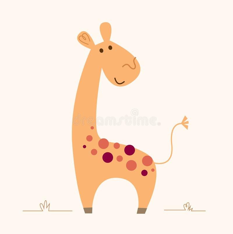 Carattere sveglio della giraffa per la stanza del bambino illustrazione di stock