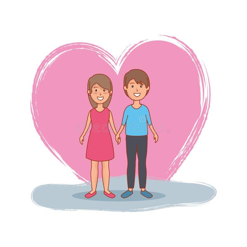 Caratteri degli avatar degli amanti delle coppie royalty illustrazione gratis