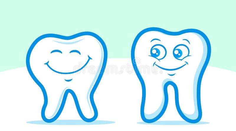 Caratteri del dente illustrazione vettoriale