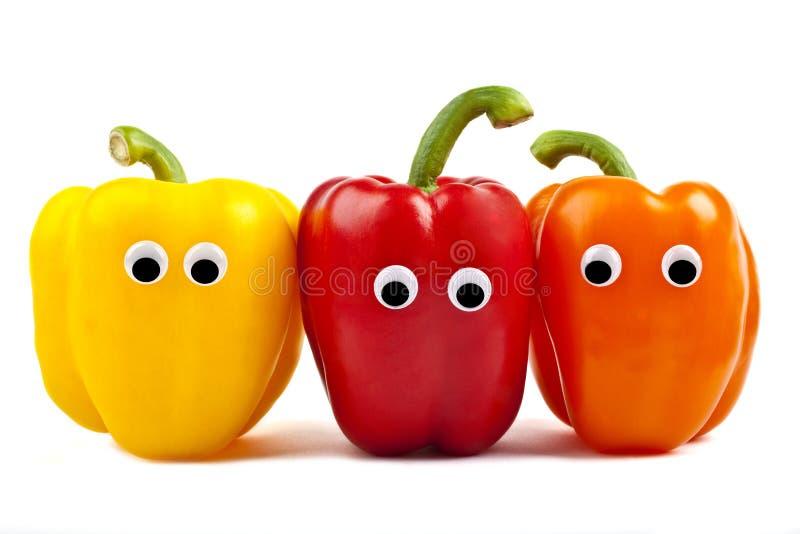Caratteri del peperone dolce fotografia stock libera da diritti