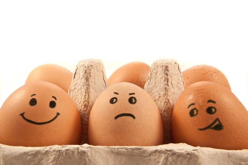 Caratteri dell'uovo fotografie stock