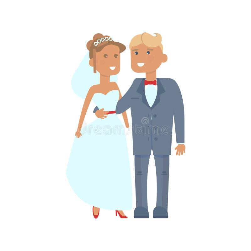 Caratteri delle coppie di nozze royalty illustrazione gratis