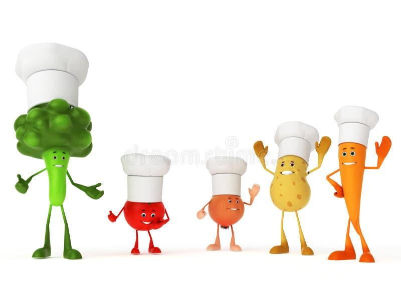 Caratteri divertenti dell'alimento illustrazione vettoriale