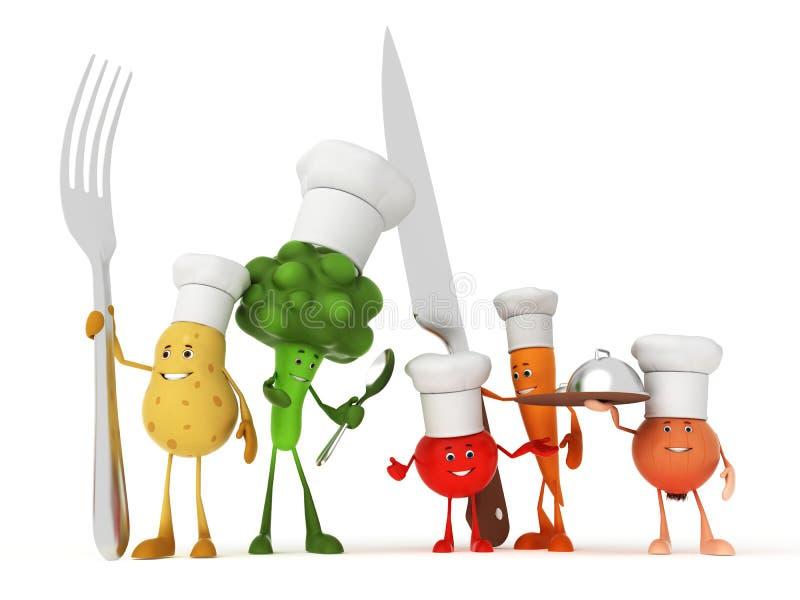 Caratteri divertenti dell'alimento royalty illustrazione gratis