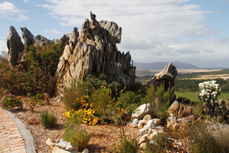 Caratteristica naturale della roccia del giardino