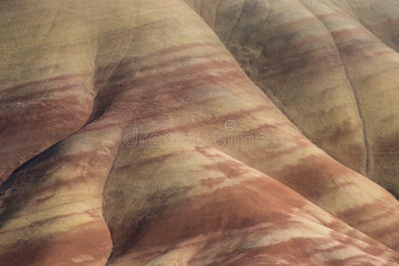 Caratteristiche geologiche stratificate delle colline Painted, Oregon fotografia stock