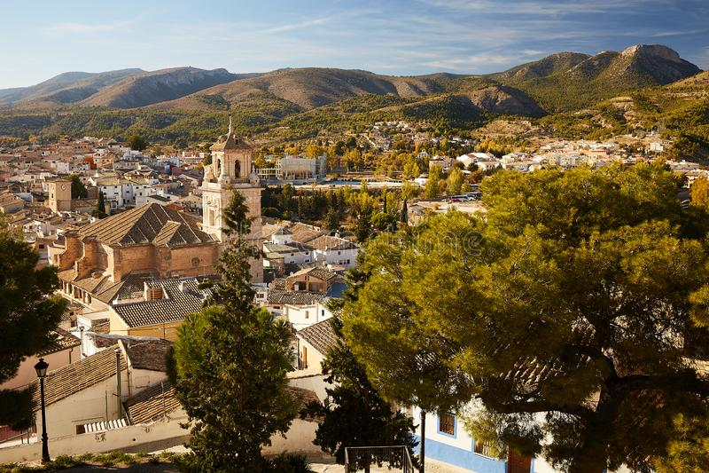 Caravaca, Spanien - 17. November 2017 : Panorama Caravaca De La Cruz, Pilgerstätte bei Murcia, Spanien lizenzfreies stockfoto