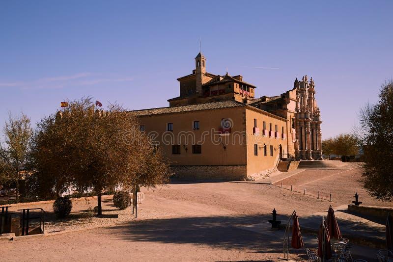 Caravaca, Spanien - 17. November 2017 : Panorama Caravaca De La Cruz, Pilgerstätte bei Murcia, Spanien lizenzfreie stockfotografie