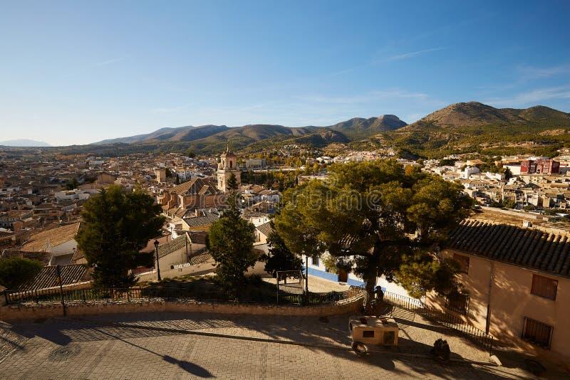 Caravaca, Spanien - 17. November 2017 : Panorama Caravaca De La Cruz, Pilgerstätte bei Murcia, Spanien lizenzfreie stockfotos