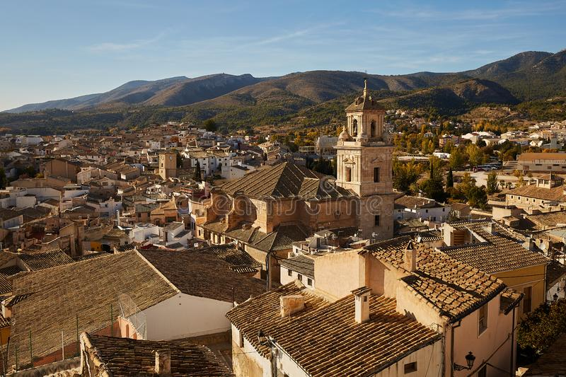 Caravaca, Spanien - 17. November 2017 : Panorama Caravaca De La Cruz, Pilgerstätte bei Murcia, Spanien stockbild