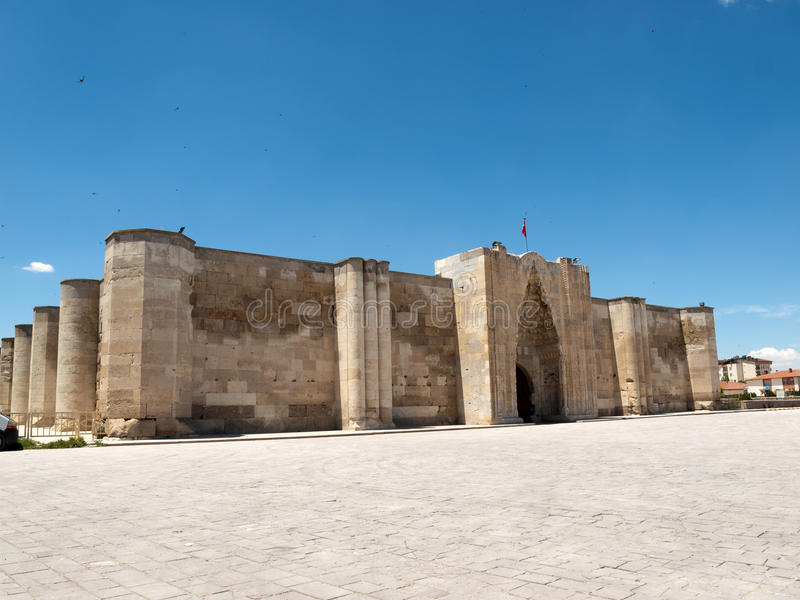 Caravançará na Rota da Seda, Turquia de Sultanhani imagens de stock royalty free