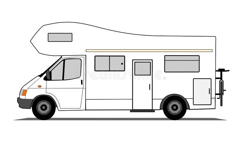 Caravan royalty-vrije illustratie