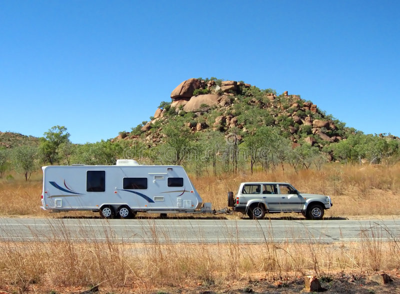 Caravan royalty-vrije stock foto's