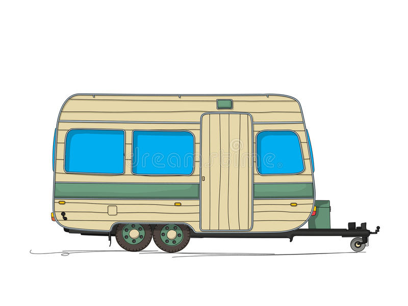 Caravan stock illustratie