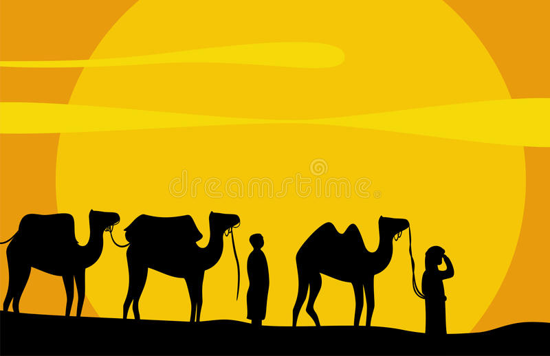 Download Caravan of camels stock vector. Illustration of leader - 12967820