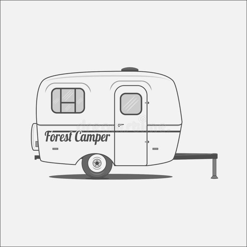 Caravan - Camera mobile per accamparsi illustrazione di stock