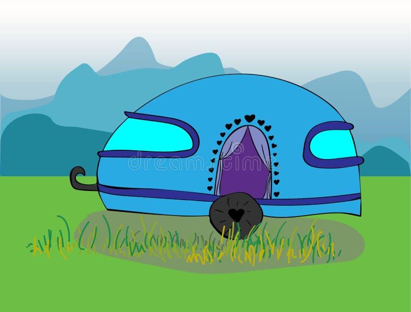 Caravan cute illustration royalty free illustration