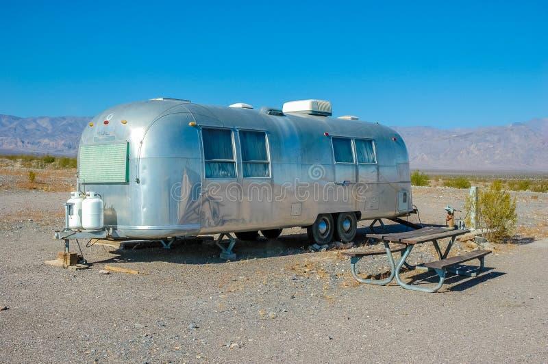Caravan, Death Valley National Park, California. Wohnwagen im Death Valley Nationalpark, Californien, USA stock photos