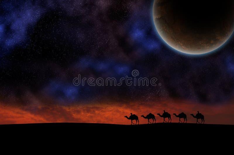 Caravan del cammello fotografia stock