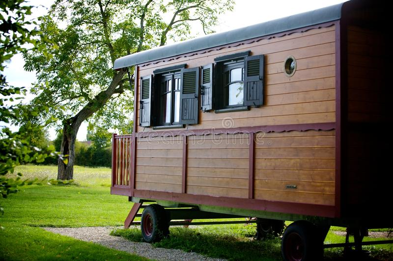 Download Caravan holiday stock image. Image of north, forest, beautiful - 11830477