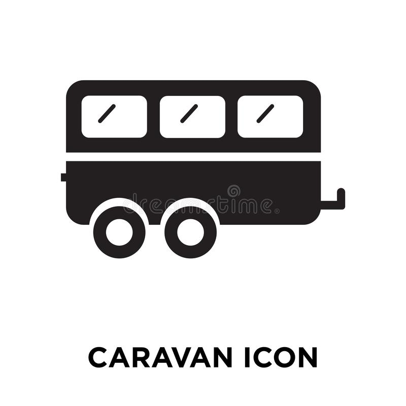 Caravan icon vector isolated on white background, logo concept o stock illustration