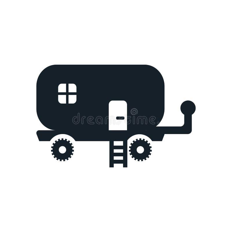 Caravan icon vector isolated on white background, Caravan sign stock illustration