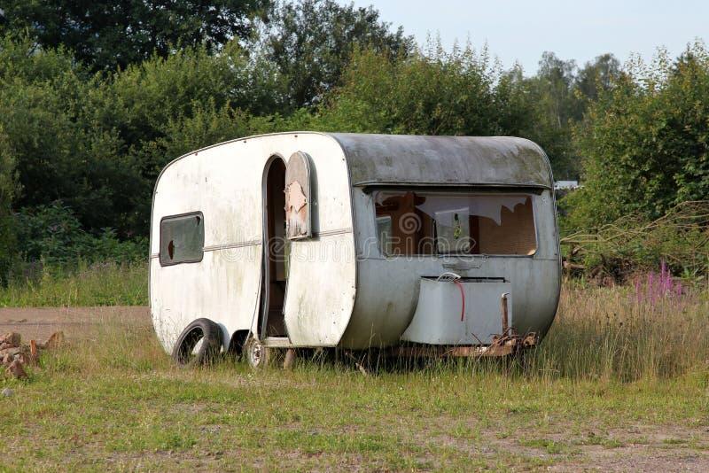 Caravan nello stato desolato immagine stock libera da diritti