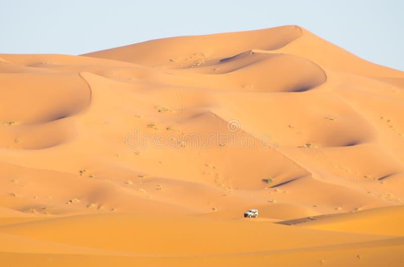 Caravan op de woestijn, Marokko stock afbeeldingen