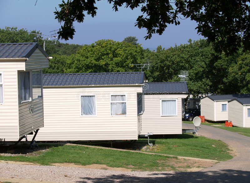 Caravan Park - Mobile Homes stock images