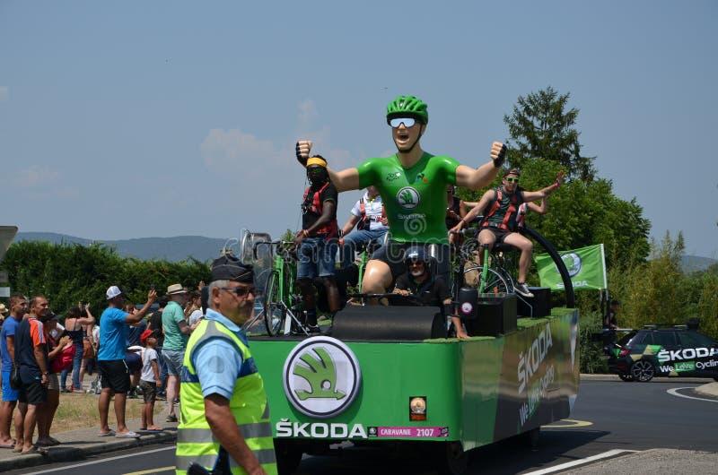 Caravan van de Ronde van Frankrijk royalty-vrije stock foto's
