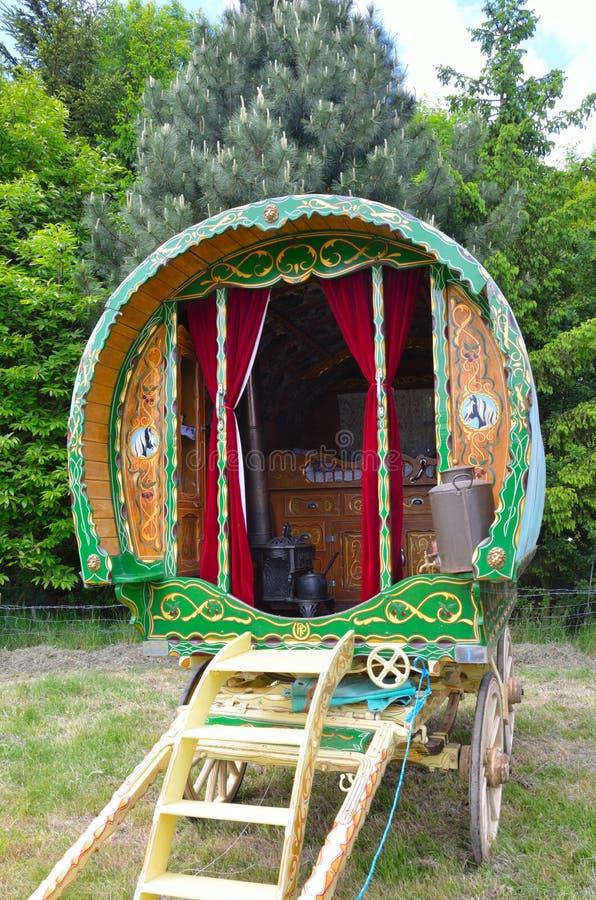 Caravan zingaresco tradizionale immagine stock