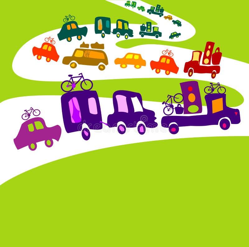 Caravana ilustração stock