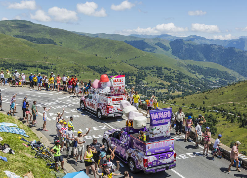 Caravana de Haribo - Tour de France 2014 fotografia de stock