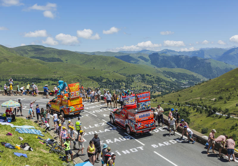 Caravana de Haribo - Tour de France 2014 fotos de stock