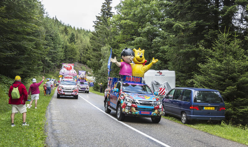 Caravana de Haribo - Tour de France 2014 do Le imagens de stock