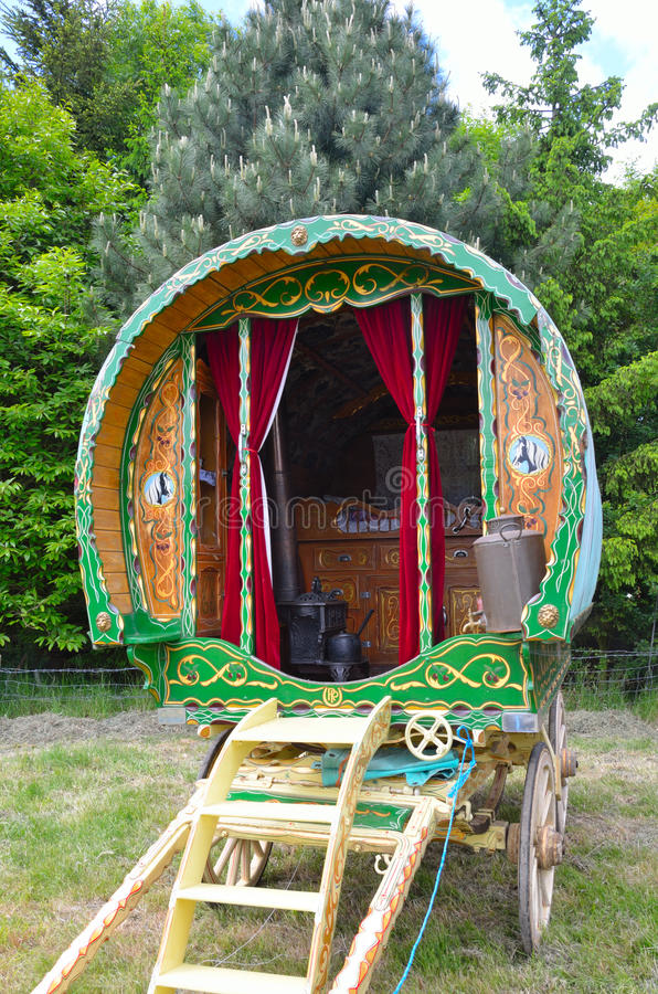 Caravana gitana tradicional imagen de archivo
