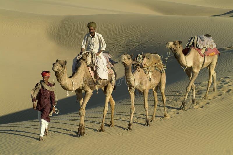 Caravana india 6 del camello imagen de archivo