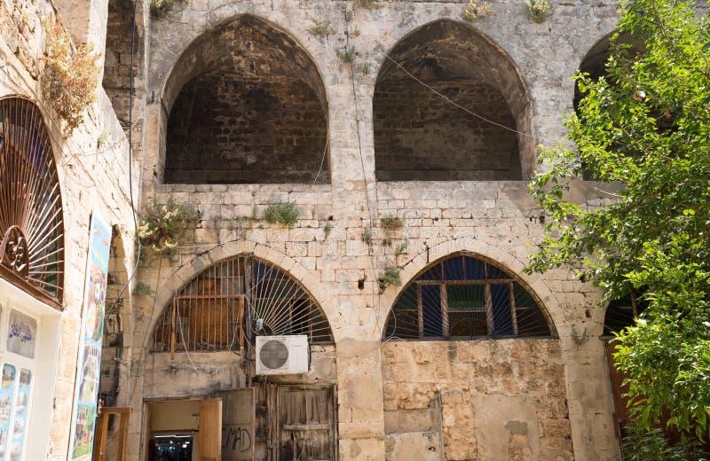 Caravanario AlSaboun o el Soap Khan en el centro histórico de Trípoli, Líbano fotos de archivo libres de regalías
