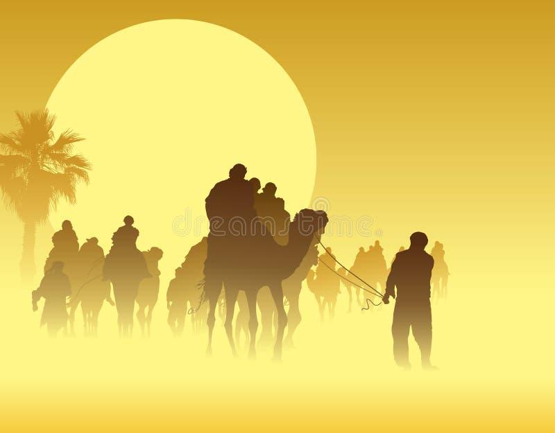 caravane de chameau illustration de vecteur