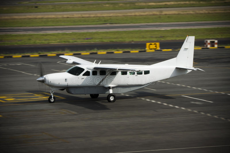 Caravane grande C-208B de Cessna photo stock