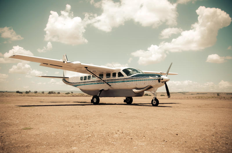 Caravane grande de Cessna photographie stock libre de droits