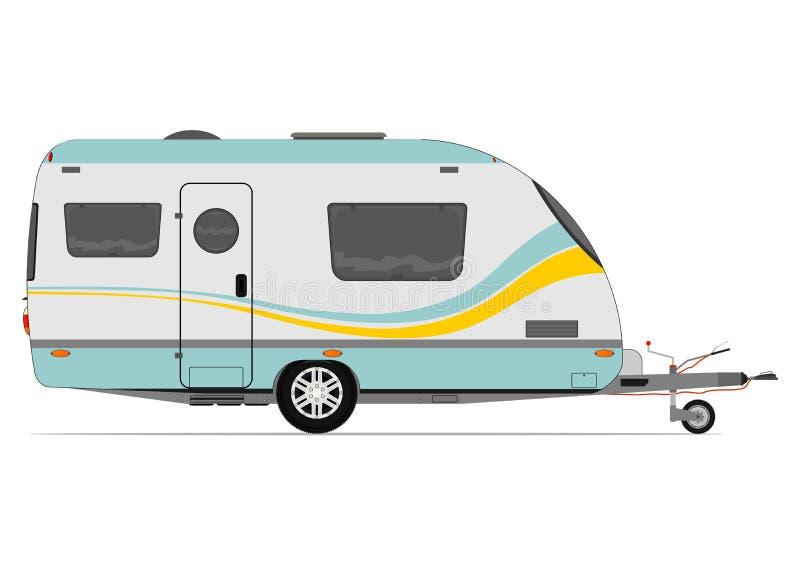 caravane moderne illustration de vecteur illustration du ext rieur 48598494. Black Bedroom Furniture Sets. Home Design Ideas