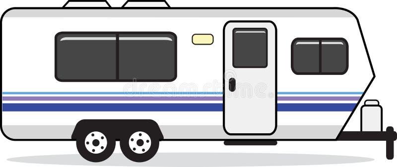 Caravane résidentielle illustration de vecteur
