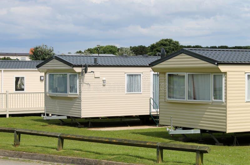 Caravanes résidentielles de caravane photo libre de droits