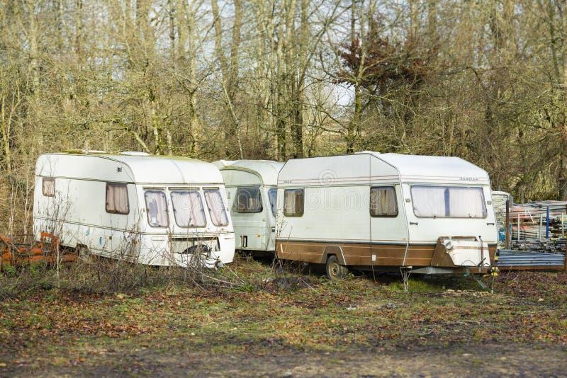Caravans, England UK royaltyfria bilder