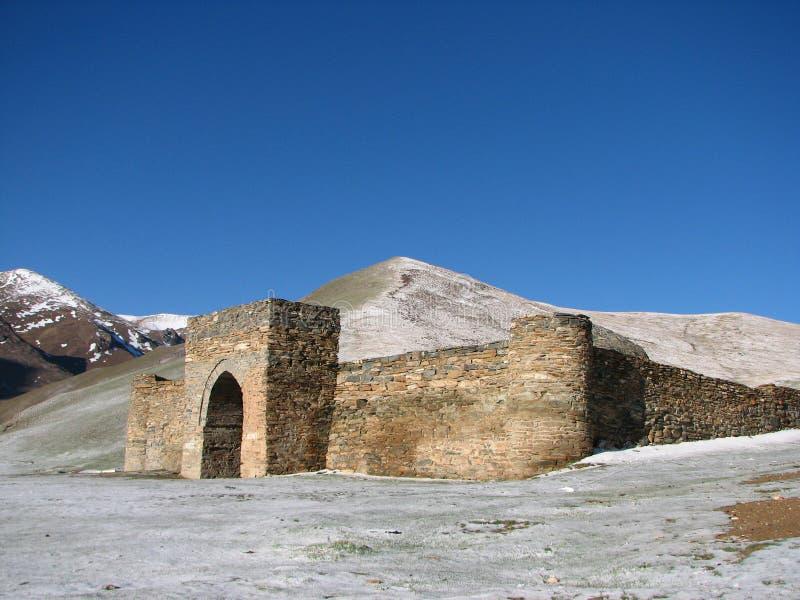 Caravanserai Tash Rabat in Kyrgyzstan stock afbeelding