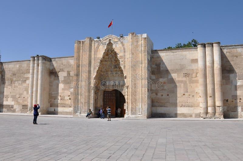 Caravanseray de Sultanhani en Akseray, Cappadocia, Turquía fotos de archivo libres de regalías