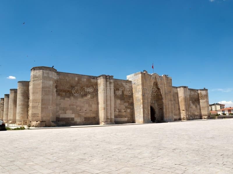 Caravanseray en el camino de seda, Turquía de Sultanhani imágenes de archivo libres de regalías
