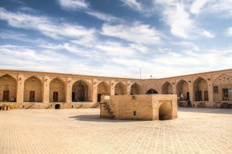 Caravanseray en Meybod cerca del yazd, Irán imagen de archivo
